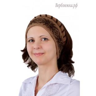 Повязка на голову с «косой» и орнаментом