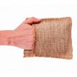 Мочалка льняная с органическим мылом «С ГОЛУБОЙ ГЛИНОЙ»