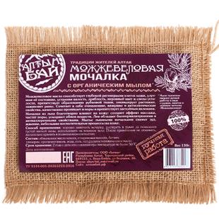 Мочалка льняная с органическим мылом «МОЖЖЕВЕЛОВАЯ»