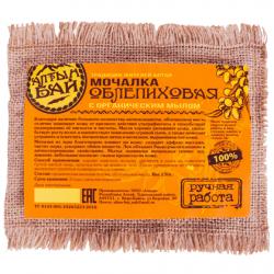 Мочалка льняная с органическим мылом «ОБЛЕПИХОВАЯ»